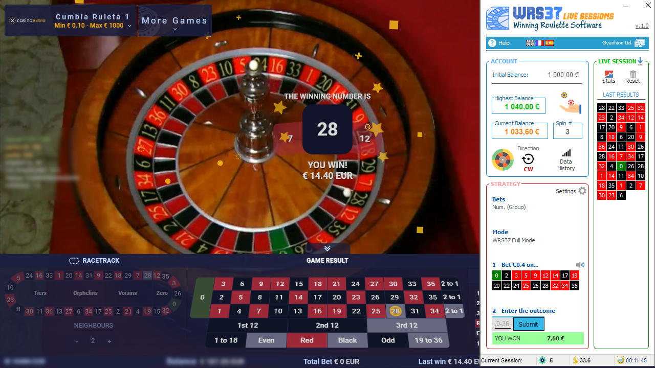 Winning Roulette Software